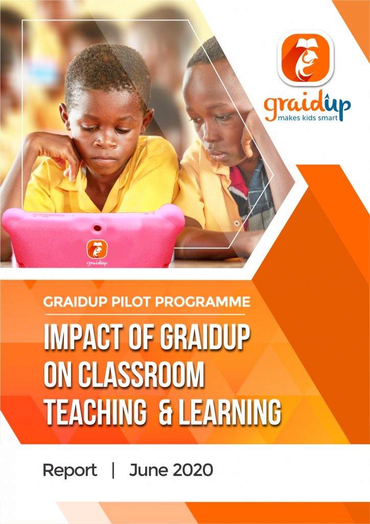 Graidup educational app for kids donated to deprived schools in the Central Region of Ghana. The report covers one academic year during which our educational tablets were used in the classroom. There was improvement on all aspects of learning.
